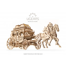 Wooden Stagecoach - Mechanical 3D Puzzle