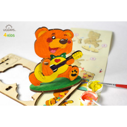 Bear - Colouring 3D Puzzle
