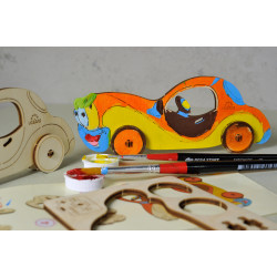 Car - Colouring 3D Puzzle