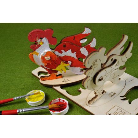 Cockerel - Colouring 3D Puzzle