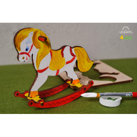 Rocking Horse - Colouring 3D Puzzle