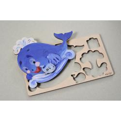 Whale - Colouring 3D Puzzle