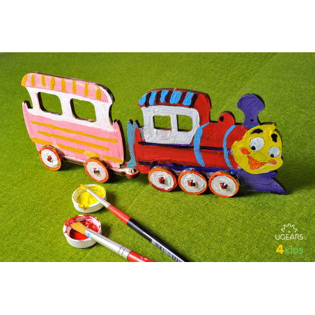 Locomotive - Colouring 3D Puzzle