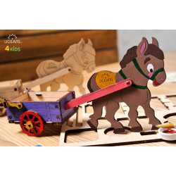 Donkey - Colouring 3D Puzzle