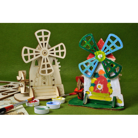 Mill - Colouring 3D Puzzle
