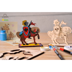 Knight - Colouring 3D Puzzle