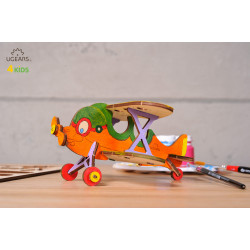Biplane - Colouring 3D Puzzle
