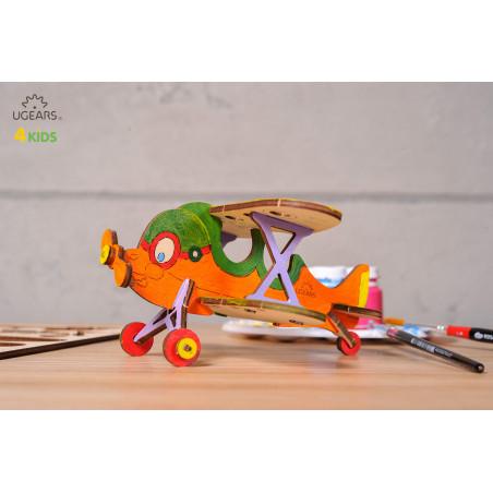 Biplane - Colouring 3D Puzzle