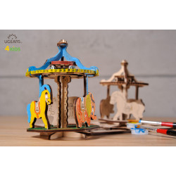 Merry Go Round - Colouring 3D Puzzle