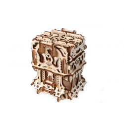 Ugears Games Deck Box - Wooden Mechanical Device for Tabletop Games