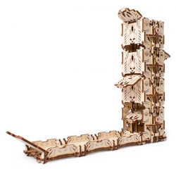 Ugears Games Modular Dice Tower - Wooden Mechanical Device for Tabletop Games