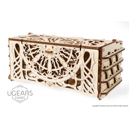 Ugears Games Card Holder - Wooden Mechanical Device for Tabletop Games