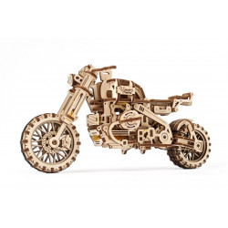 Scrambler UGR-10 Motor Bike with Sidecar - Mechanical 3D Puzzle